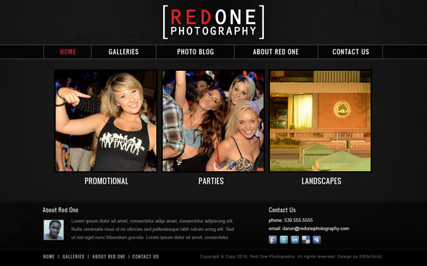 Red One Photography Website
